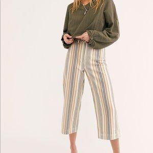 Free People Striped Patti Pants Size 26